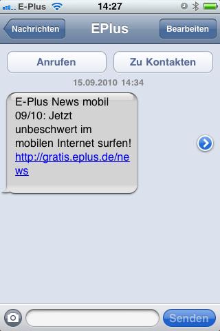 SMS von eplus