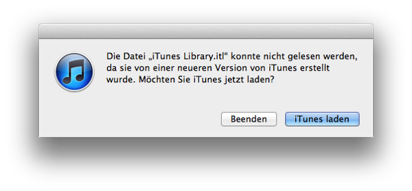 iTunes Downgrade durch Lion