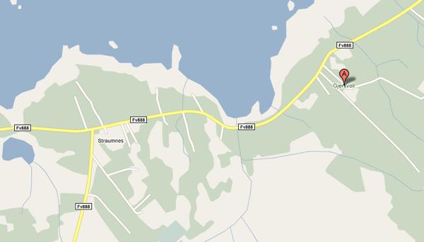 Die Umgebung von Straumnes in Google Maps