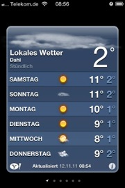iPhone Wetter Samstag