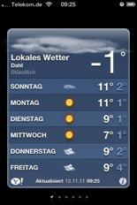 iPhone Wetter Sonntag