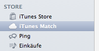 iTunes Match in Seitenleiste