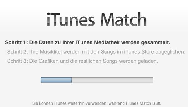 iTunes gleicht Musik für Match ab