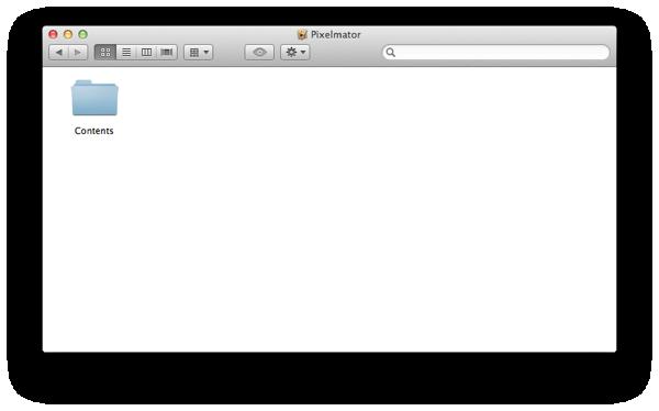 Pixelmator Programmpaket geöffnet