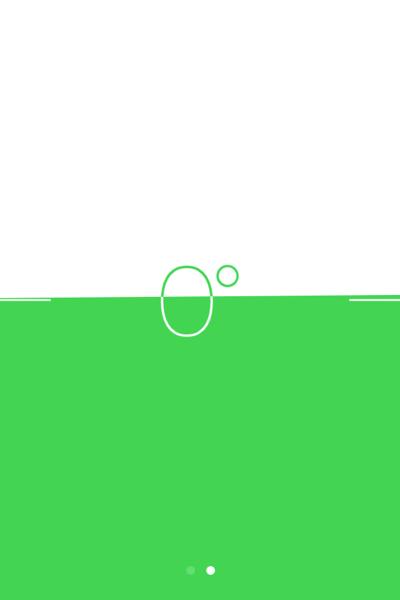 Neigungsmesser iPhone 4s (hochkant)