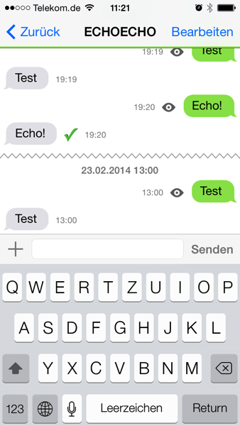Threema Messenger unter iOS7