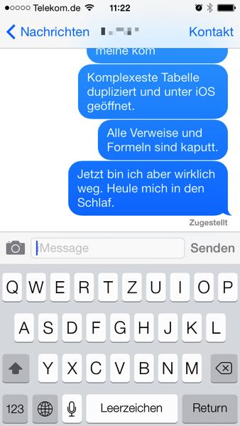 iMessage unter iOS7